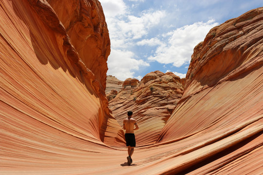 Man Walking the Wave Arizona