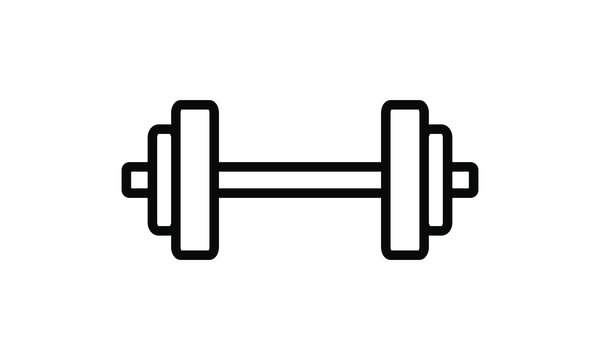 dumbell, barbell icon vector