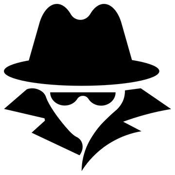 Computer hacker Avatar concept, Internet spy Vector Cracker Agent Avatar Icon design