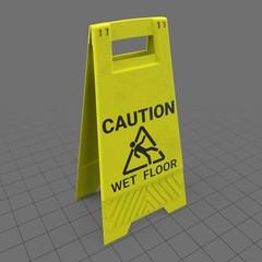Wet floor warning sign 1