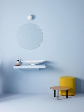 Interior view of bathroom