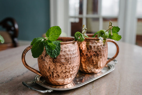 Refreshing Moscow Mule Cups