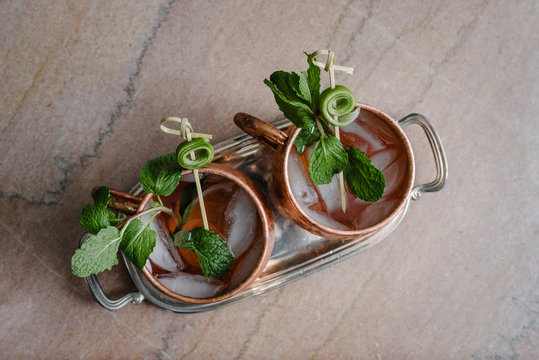 Moscow Mule Cups from Above