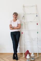 Stylish senior woman portrait in the studio
