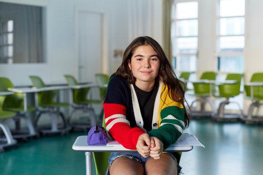 Teenage student's portrait