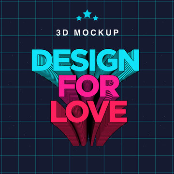 3D Text Effect Mockup / add your own text or images