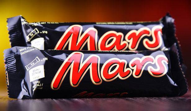 Chocolate bars of Mars, products of Mars Incorporated