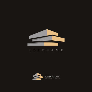 Modern Real Estate Building Logo Design, Construction Working Industry concept Icon. Property, residential contractor and General Contractor Company logos.