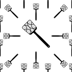 Swatter Icon Seamless Pattern, Insect Swatter Icon, Zapper, Fly Killing Device