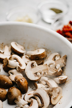 Sauteed Baby Bella Mushrooms