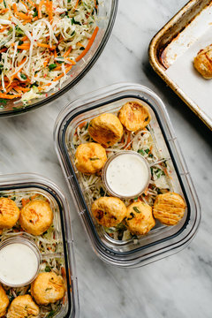 Buffalo Chicken Salad containers