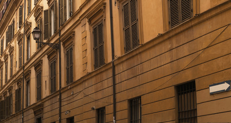 Architecture Of Ancient City of Rome / Facade details and streets of city