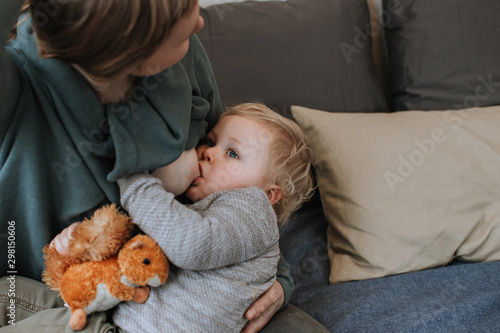 Mother Breastfeeding Young Son