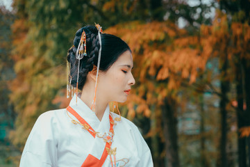 portrait of woman in Han Chinese clothing