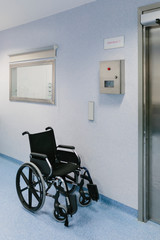 Wheelchair in the hospital