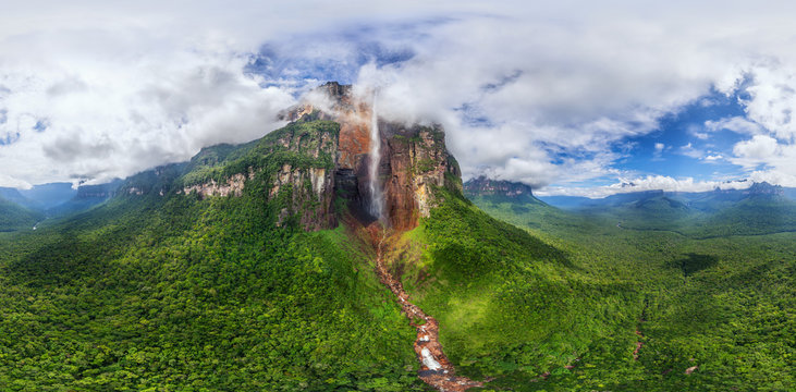 Aerial view of Angel Falls