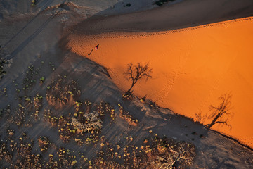 Aerial view of Namib desert
