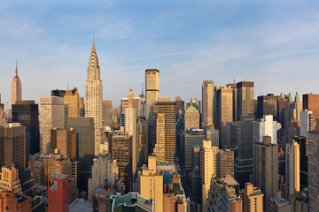 Aerial view of Chrysler Building in Manhattan, New York, USA