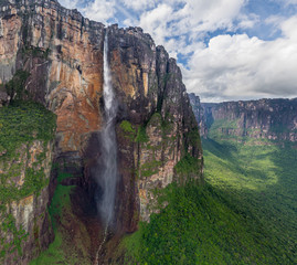 Aerial view of Angel Falls, Venezuela