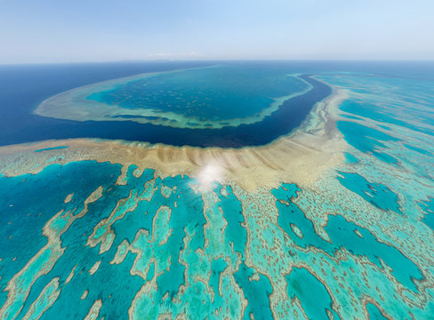 Aerial view of the Great Barrier Reef, Australia