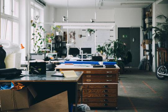 Interior of start-up office