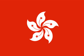Hong Kong flag. Official colors. Correct proportion Fotomurales