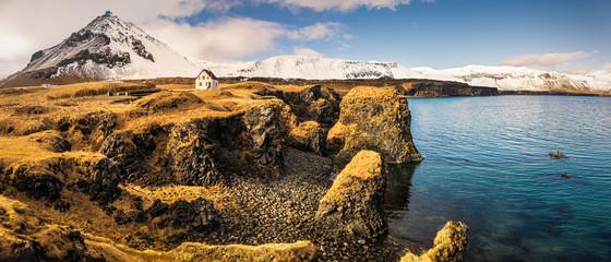 Amazing landscape of Arnarstapi, Snaefellsnes peninsula, Iceland