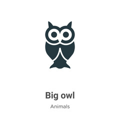 Big owl vector icon on white background. Flat vector big owl icon symbol sign from modern animals collection for mobile concept and web apps design.