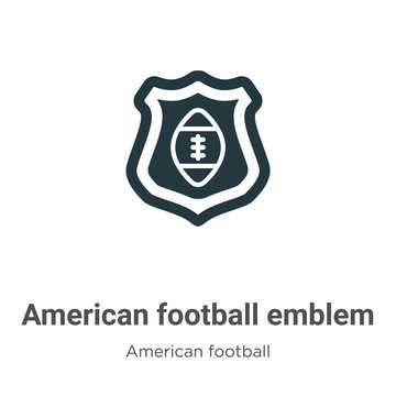 American football emblem vector icon on white background. Flat vector american football emblem icon symbol sign from modern american football collection for mobile concept and web apps design.