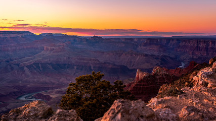 Printed kitchen splashbacks Eggplant The sun setting over the horizon of the Grand Canyon in Flagstaff, Arizona, USA.