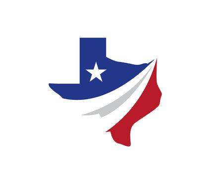 Creative Texas Logo, Icon, vector illustration