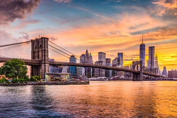 Photo sur Aluminium Brooklyn Bridge New York City Skyline