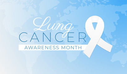 Lung Cancer Awareness Month Background Illustration