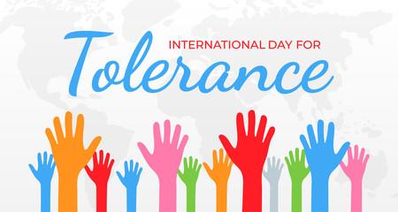 International Day for Tolerance Background Illustration