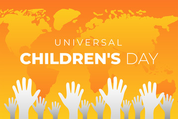 Universal Children's Day Background Illustration