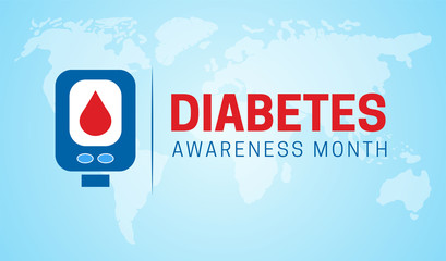 Diabetes Awareness Month Background Illustration