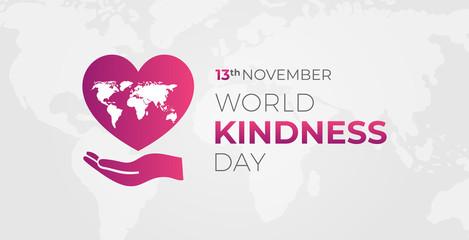 World Kindness  Day Illustration Background Banner