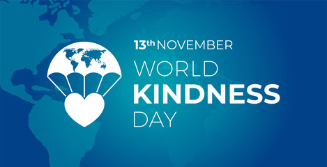 World Kindness  Day Blue Banner with Icon