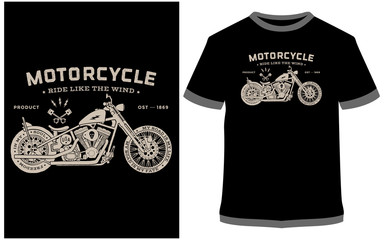 Motorcycle t-shirt designs - Vector graphic, typographic poster, vintage, label, badge, logo, icon or t-shirt