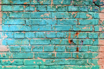 Embossed brick wall texture. Abstract background.