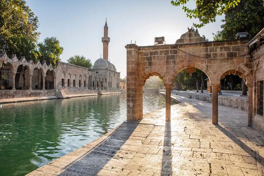 Balikligol, Sanliurfa / Turkey. Balikligol Mosque ( Fish Lake )