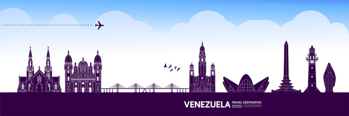 Fototapete - Venezuela travel destination grand vector illustration.