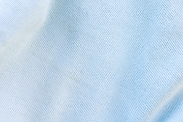 blue cotton texture material. macro photo