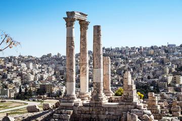 The Temple of Hercules at the citadel, Amman, Jordan