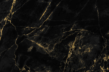 Black and gold marble texture design for cover book or brochure, poster, wallpaper background or realistic business and design artwork. Fototapete