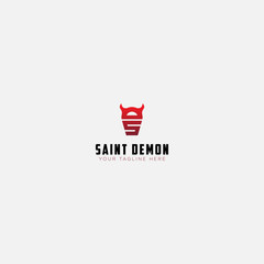 saint demon logo with initial letter S and D