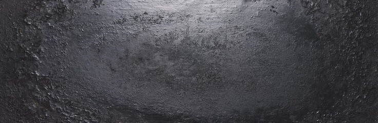 Foto auf Leinwand Metall dark metal background texture or backdrop, banner size