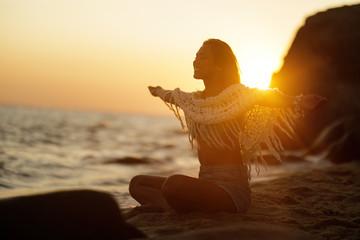 Freedom at summer sunset!