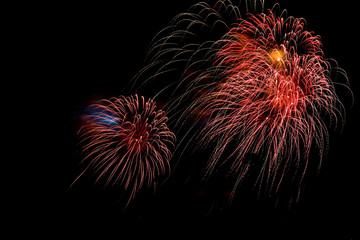 Fireworks Stock Image In Black Background
