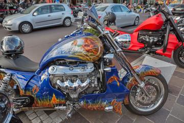 Annual Velden European Bike Week festival in Austria.